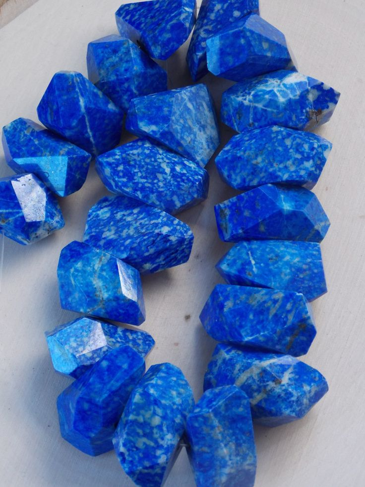 Lapis Lazuli Beads / Large Lapis Lazuli Beads / Strand of Lapis Lazuli / Nugget Lapis Lazuli / Natural Lapis Lazuli /Jewelry Supplies, Beads by Loft12Studios on Etsy
