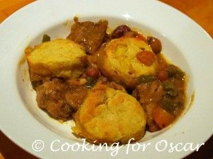 Cooking for Oscar: Chicken Casserole with Savoury Biscuits