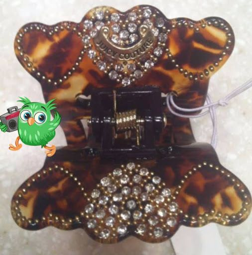 Juicy Couture Hair Clip Claw clasp Iconic Pave Heart Charm Brown NEW WITH TAGS  http://www.bonanza.com/listings/Juicy-Couture-Hair-Clip-Claw-clasp-Iconic-Pave-Heart-Charm-Brown-NEW-WITH-TAGS/266058592   www.bonanza.com/booths/FRAN24112 FRANSCOSMETICSBARGIN   franscosmeticsbargains FRAN24112      frans-cosmetics-bargains