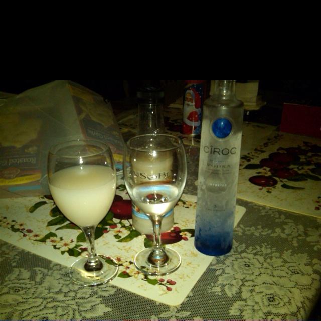 Ciroc mixed with Piña Colada!!! Yummy