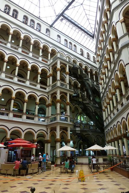 Shopping centre inside the old palce of justice, Medellin, Colombia