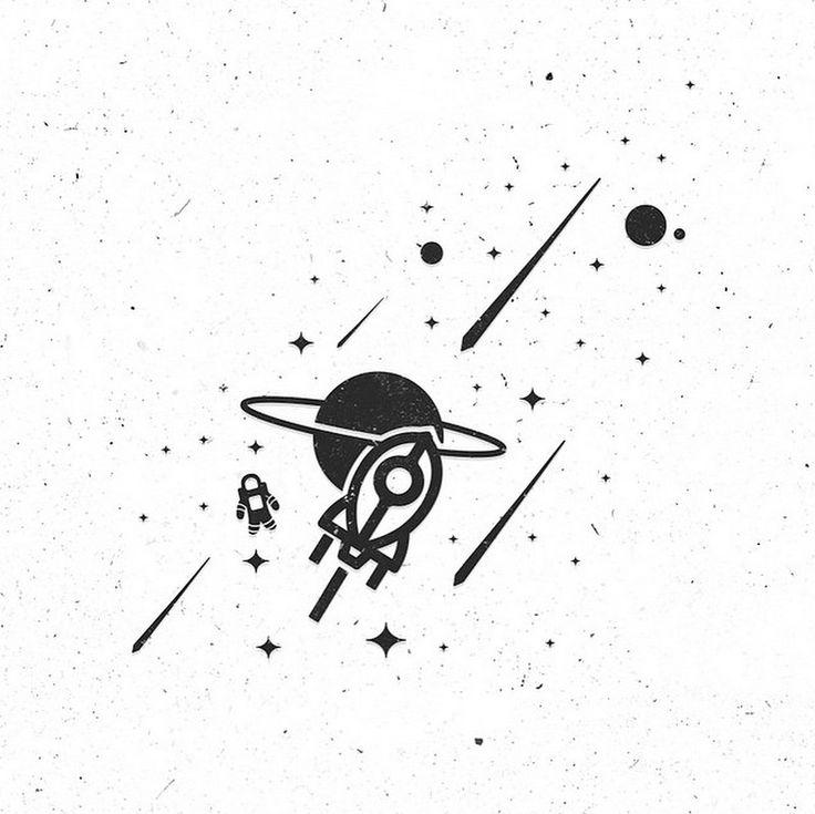 Стиль и простота Тургая Мутлая -   Старший арт-директор и иллюстратор из Стамбула Тургай Мутлай в своём инстаграме доходчиво и внятно показывает как сделать хороший дизайн.  #художник #дизайнер #животные #космос #artist #designer #animals #space