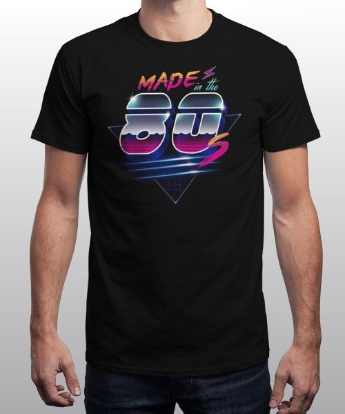 """Made in the 80's"" is today's £9/€11/$12 tee for 24 hours only on www.Qwertee.com Pin this for a chance to win a FREE TEE this weekend. Follow us on pinterest.com/qwertee for a second! Thanks:)"