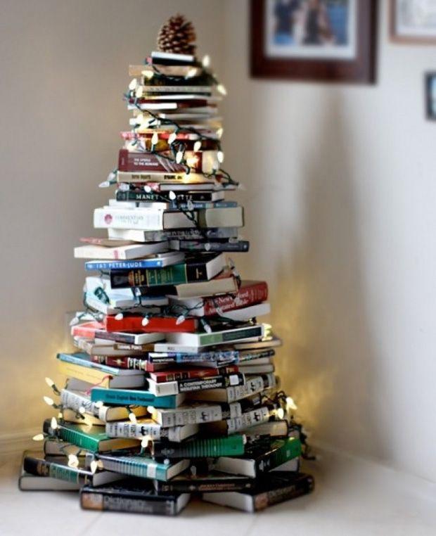 a tree for books maniacs #decor #DIY #xmas #Natal #christmas