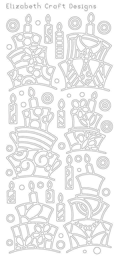 Elizabeth Craft Design PeelOff Sticker 2478B Funky by PNWCrafts, $2.10