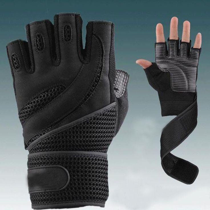 Бесплатная доставка тренажерный зал бодибилдинг обучение перчатки для фитнеса спортивное оборудование тяжелая атлетика тренировки упражнения дышащий запястья купить на AliExpress