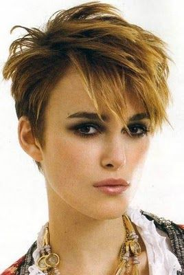 cute & edgy - I would make cuter & edgier with chunky highlights