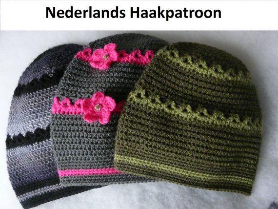 Nederlands Haakpatroon Baggy Muts jongen en door ElodyKnitsforKids