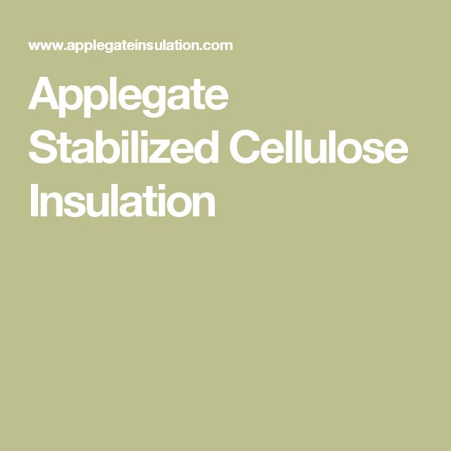 Applegate Stabilized Cellulose Insulation