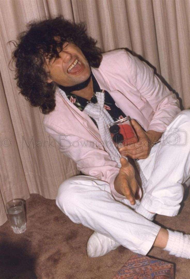 Jimmy Page at Ronnie Lane's party – La Mansion Hotel, Austin, Texas – after the gig on March 23, 1985 with The Firm