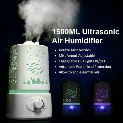 Humidifier Home Aroma Air Diffuser Purifier Atomizer Mist Maker LED Light 350ml | Wish