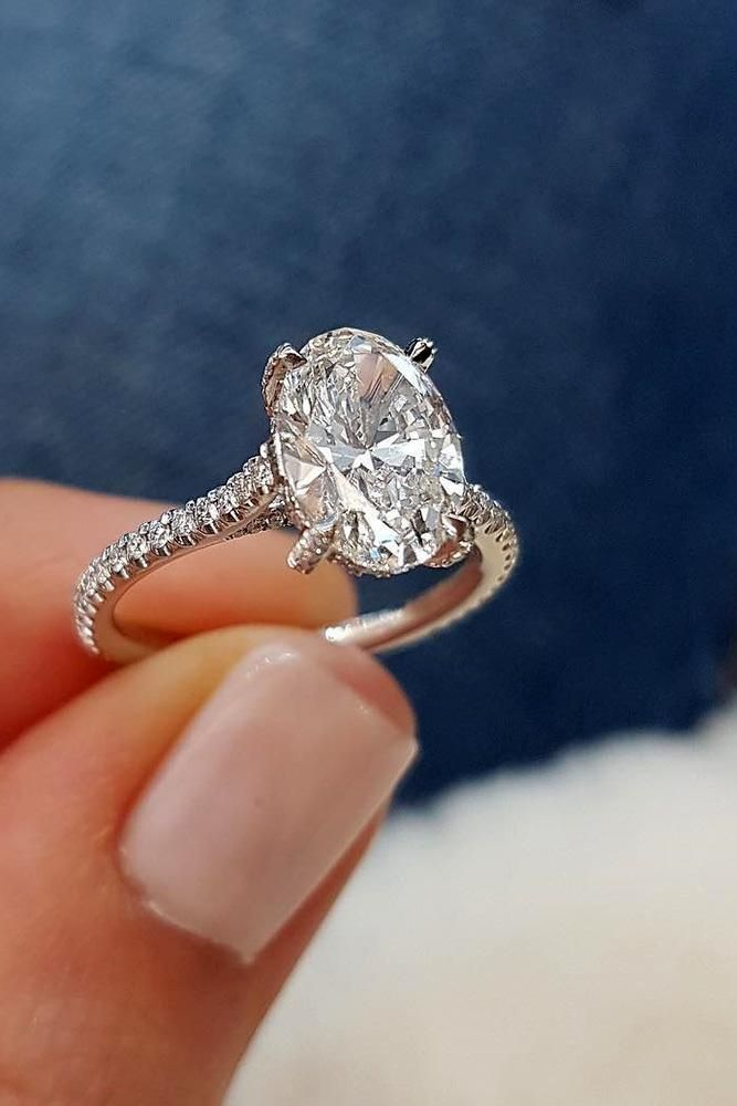 Oval Engagement Rings That Every Girl Dreams ★ #engagementring #proposal