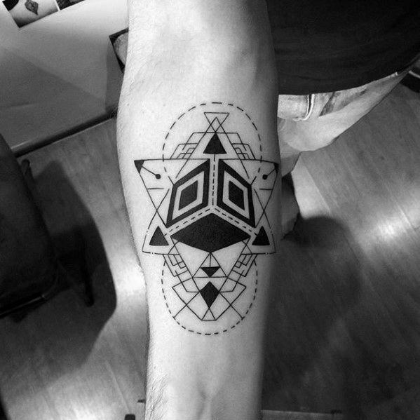 Geometric Abstract Shapes Coolest Small Tattoo Ideas For Guys On