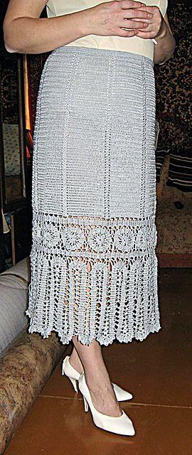 Ravelry: Bruges Lace Crochet Skirt pattern by Svetlana Bondareva