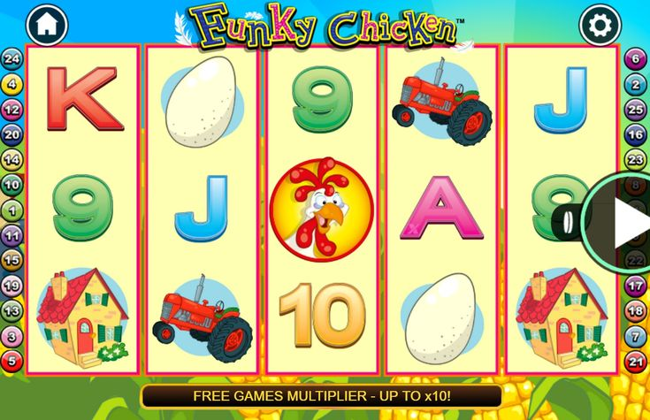 Have You Ever Played  Catch the chickens from the farm with this free online slot game demo with 25 fixed pay lines, 5 reels, and 3 rows. 15 free games are awarded in the free games feature. From NextGen Gaming best free online slots.  game?