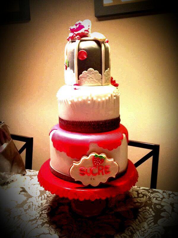 #sucre de maduixa#tarta decoradas#fondant