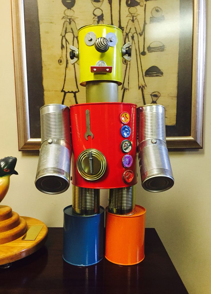 Recycled Metal Robot. Grade 5.... Created by Aahil Hassim
