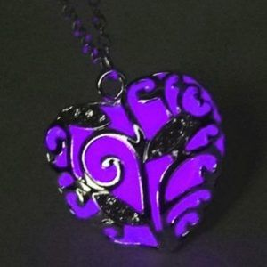 Magical Purple Glow in the Dark (Glowie) necklace pedant shipped to anywhere in South Africa.