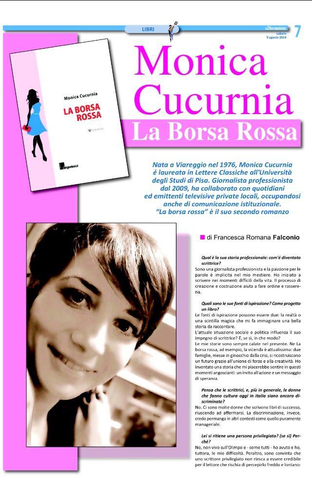 un'intervista a me da La Discussione (Roma), agosto 2014