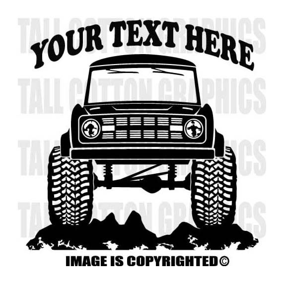 Best Ford Bronco Stuff Images On Pinterest Broncos Ford - Custom truck decals vinyls