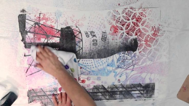 Acrylic Washes, Glazes and Image Transfer on TerraSkin with Melanie Matt...