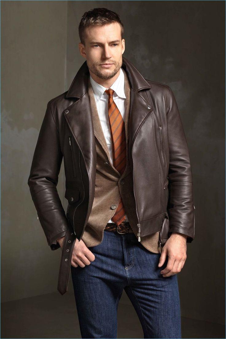Leather jacket aesthetic - Brunello Cucinelli Fall Winter 2017 Men S Collection Lookbook