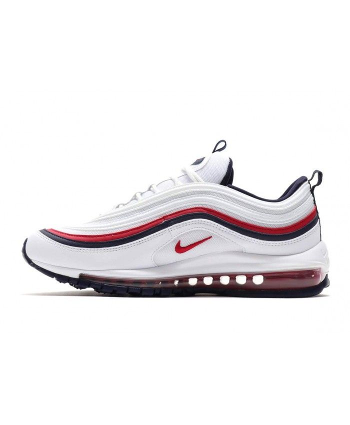 52ec1c9c4309 Nike Air Max 97 White Red Blue Trainers 921733-102