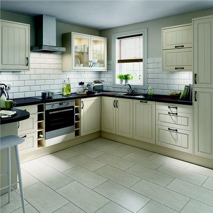 Homebase Simply Hygena Chesham Cream #shakerkitchen. #Kitchens #Homes  #Interiors #dreamkitchen