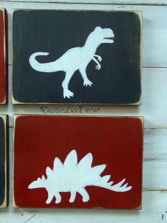Dinosaur rustiek hout Decor ingesteld rustieke kwekerij by RusticLuvDecor | Etsy