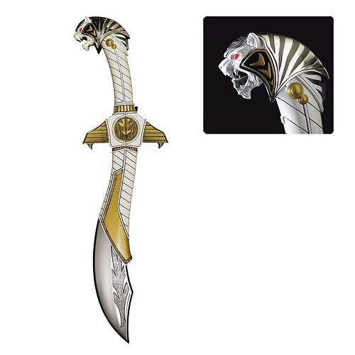 Power Rangers White Ranger Die-Cast Saba Sword