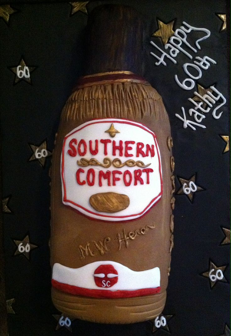 Southern Comfort Cake Made using 3 round cakes, 2 large ones & 1 ...