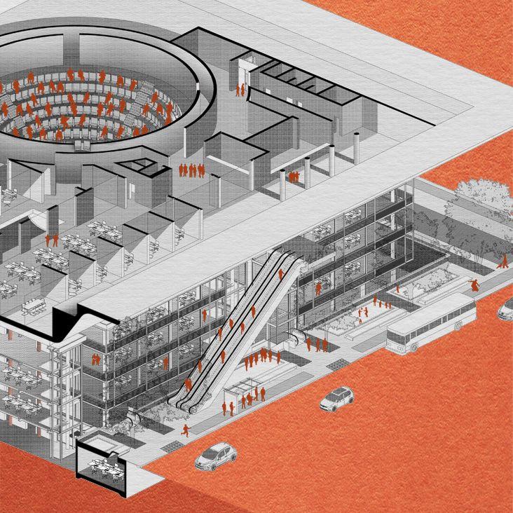 Patrick Taft Architecture - Isometric drawing