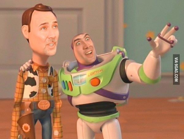 Nicolas Cage...Nicolas Cage everywhere!