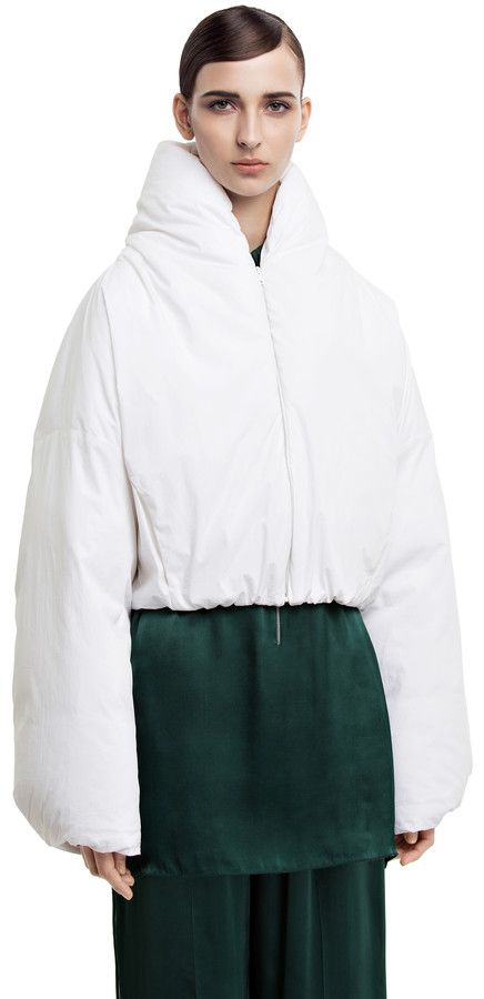 Evade cropped padded bomber jacket #AcneStudios #PreFall2014