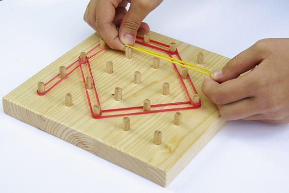 Geoboard 5x5 to 7x7 Montessori Educational toddler toys