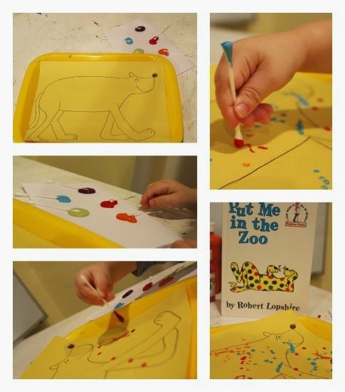 School Time Snippets: Put Me In the Zoo Fine Motor Activities