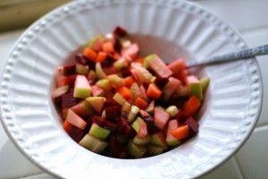 fruit & veggie salad. looks good!: Recipe