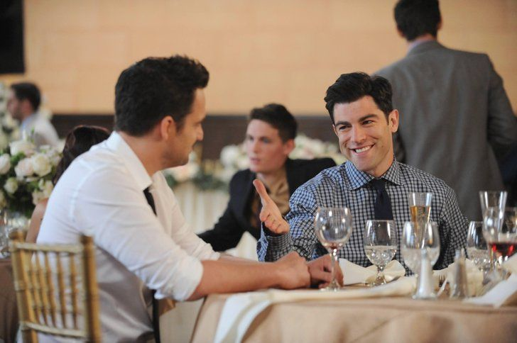 Pin for Later: Fall TV Is Here! Get Excited With All the Season Premiere Pictures New Girl Nick (Jake Johnson) and Schmidt (Max Greenfield) are back.