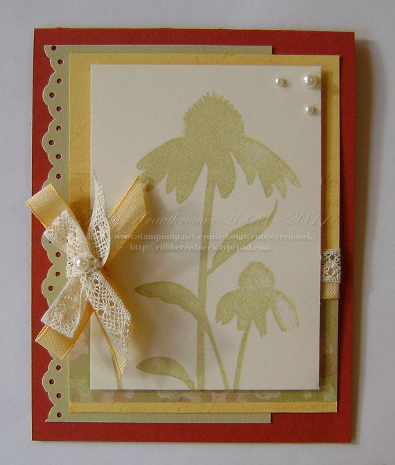 Nice Card Making Ideas Nature Part - 7: Stampin Up Handmade Card Blank FlowerInspired By By Rubberredneck, $4.95