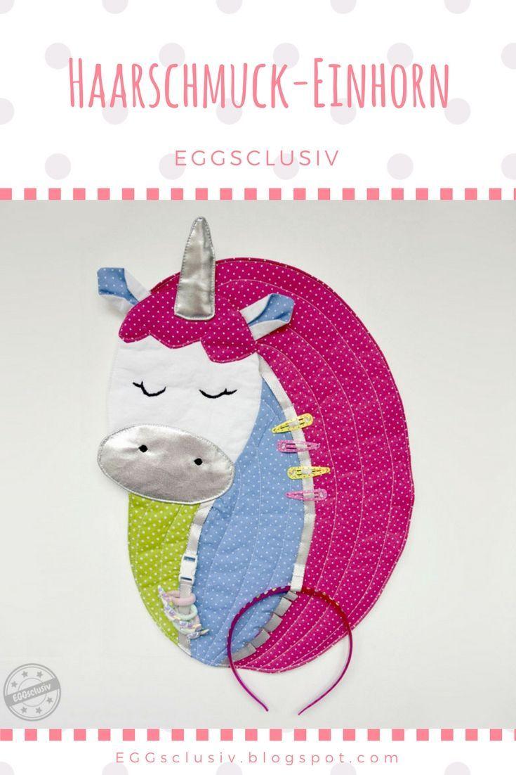 EGGsclusiv: Haarschmuck-Sammler als Einhorn nähen für Haarklammern, Haarbänder und Haarreifen.