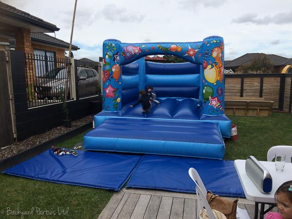 jumping castle blue party