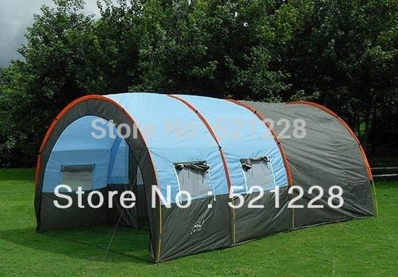 95.00$  Watch now - http://alis0u.worldwells.pw/go.php?t=1533870716 - Hot/on sale 8-10 persons waterproof Canvas Outdoor Camping large family tunnel beach fishing tent 2 bedrooms 1 living room tent 95.00$