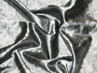 Paisley Weave Jacquard Lining Fabric 10 Pewter Silver | Fabric | Lining Fabrics | Minerva Crafts
