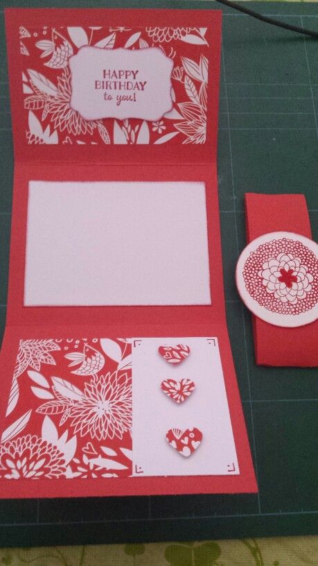 Gift card holder met Hema papier & stampin up stempel [ Made by Mandy ]