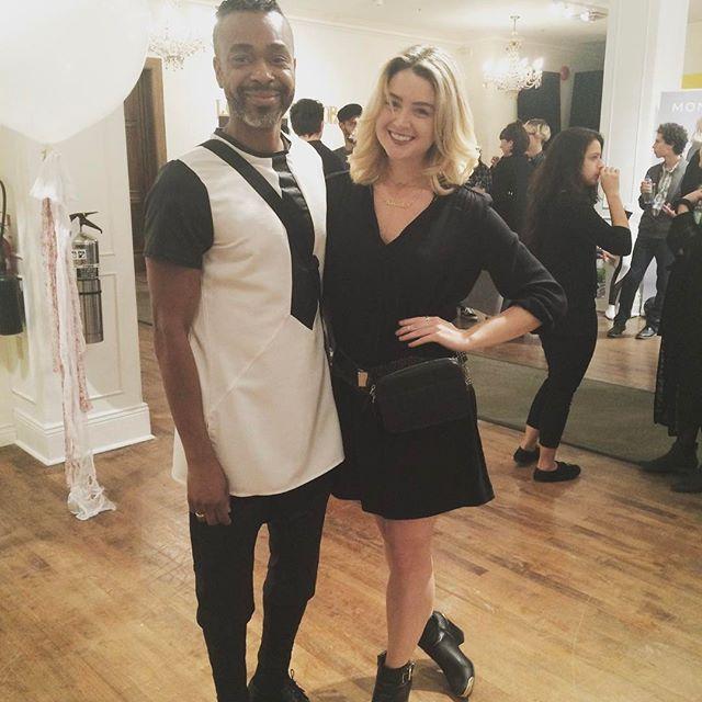 TBT to running into @samanthaecutler sporting her Holdur at Fashion Preview !  to both you and @yves.ulysse . xoxo . . . . . #leatherbag #mtlmoments #holdur #itsaholdur #fannypack #waistbag #beltbag #madeinmontreal #madeincanada #fashionshow #festivalfashion #coachella2017