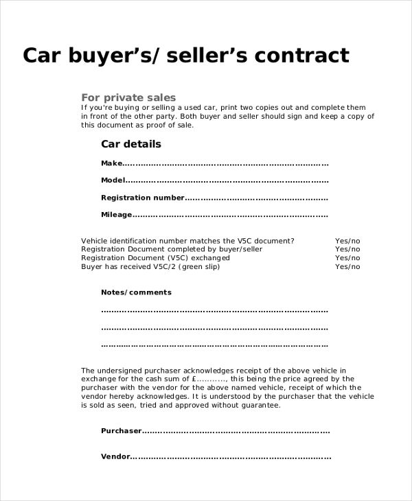 Vehicle Purchase Agreement - Installment agreements permit the buyer