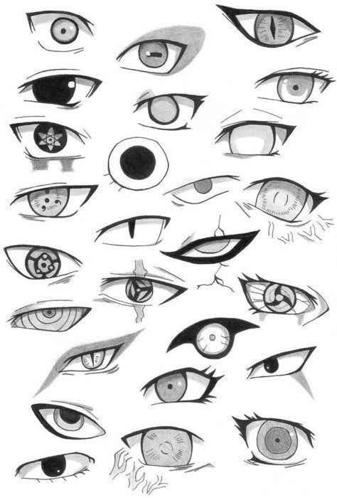 manga eye coloring pages - photo#14