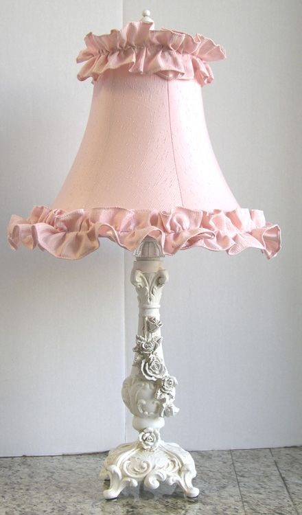 lamp shade would like to make with layers or rows of ruffles