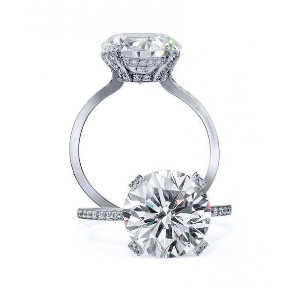 Tacori Engagement Ring - Shown with a 3.00ct brilliant round cut center diamond.