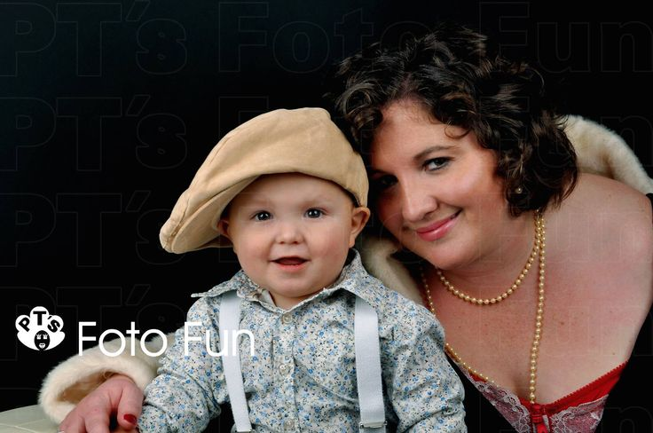 Vintage mum and son cute shot